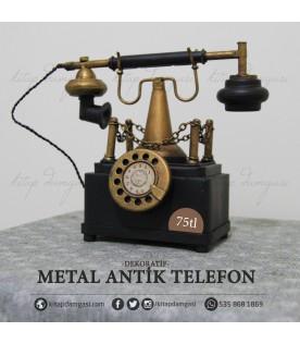 Metal Antik Telefon