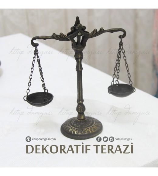 Minyatür Bronz Adalet Terazisi