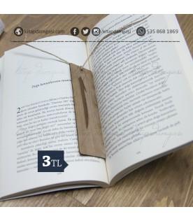 Elif Motifli Ahşap Kitap Ayracı