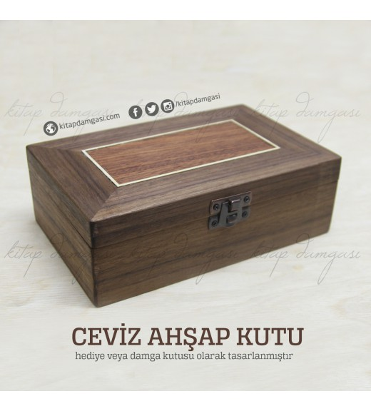 Ceviz Ahşap Kutu - Lüks