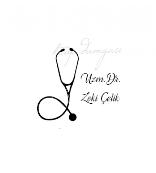 Steteskop - Doktor Temalı İsme Özel Mühür