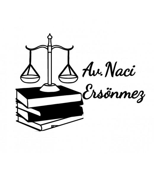 Adalet Terazisi ve Kitap - İsme Özel Damga