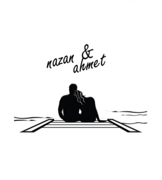 İskeledeki Çiftler -  İsme Özel Kitap Damgası