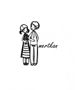 Kolkola Çiftler - İsme Özel Damga - Davetiye Mührü