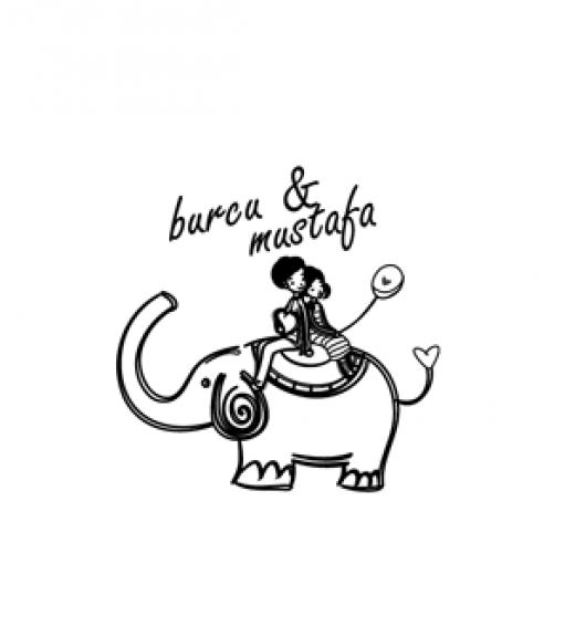 Fil Üstündeki Çift - Davetiye Mührü