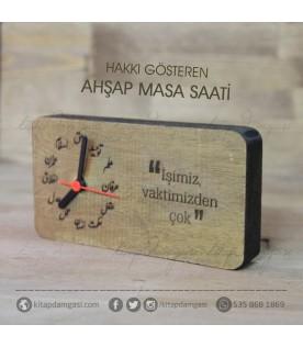 Osmanlıca Ahşap Masa Saati