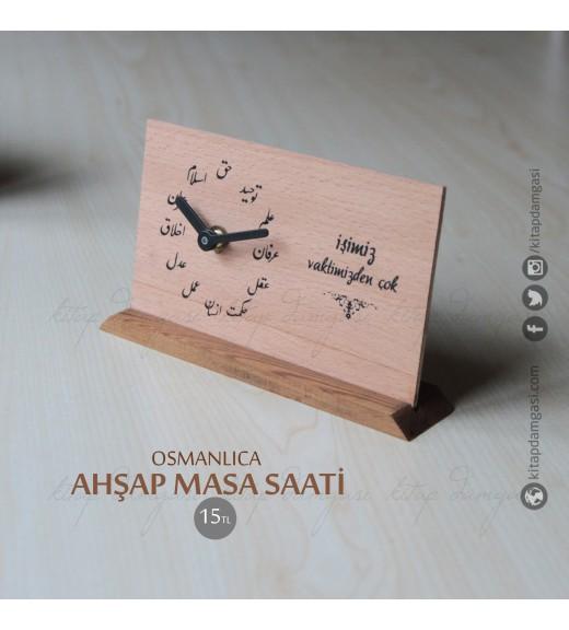 Ahşap Osmanlıca Masa Saati