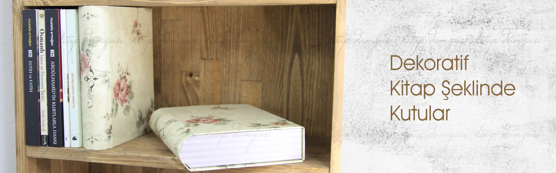 kitap şeklinde dekoratif kutu