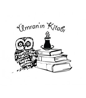 Baykuş Kitap Üzerinde Semerkand Logolu Çay Bardağı