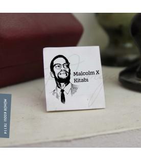 Malcolm X Temalı Kitap Damgası