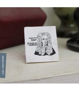 Newton Portreli İsme Özel Mühür