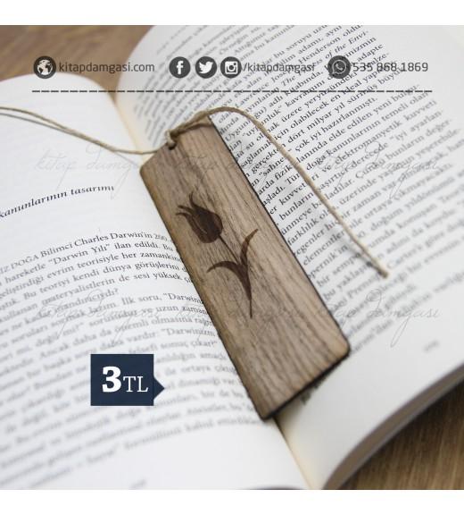 Lale Motifli Kitap Ayracı