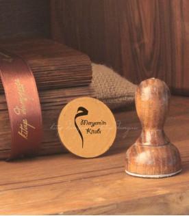 Arapça Mim Harfli Kitap Damgası Modeli