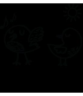 Kuşlar ve Müzik İsme Özel Kitap Damgası