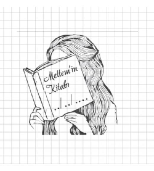 Kitap Okuyan Kız -İsme Özel Kitap Damgası