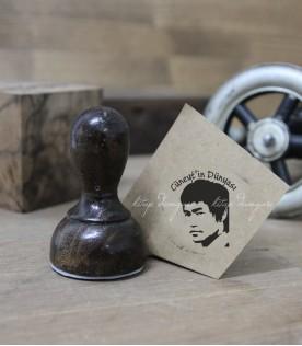 Kareteci Bruce Lee Temalı Kitap Damgası