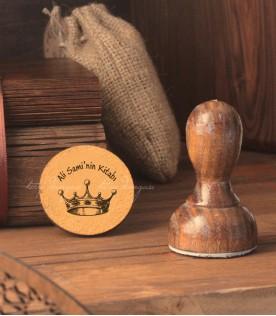 Kral Tacı - Kişiye Özel Kitap Damgası