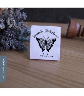 Desenli Kelebek - Kişiye Özel Kitap Damgası