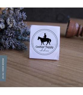 At Süren Adam -  Exlibris Stamp