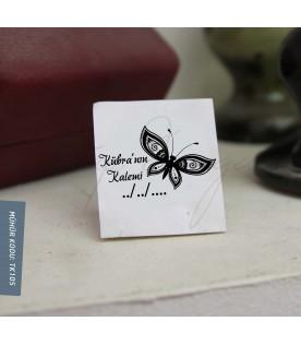 Desenli Kelebek Kitap Mührü